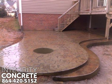 sted concrete patio with pit traditional patio