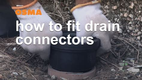 fit drain connectors osma soil waste youtube