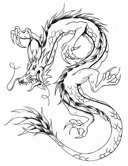Dragon Coloring Dragons Pages Adults Asian Knights