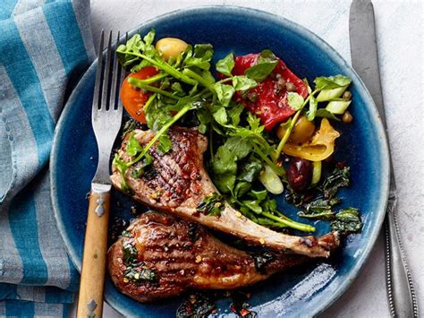 kitchen tv ideas grilled chops with mint recipe food kitchen
