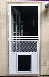 screen doors with a dog door dog door for sliding glass door With dog doors that keep other animals out