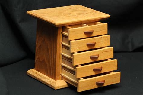 wood jewelry box ash  drawer