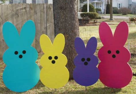 giant easter bunny peeps outdoor easter decoration