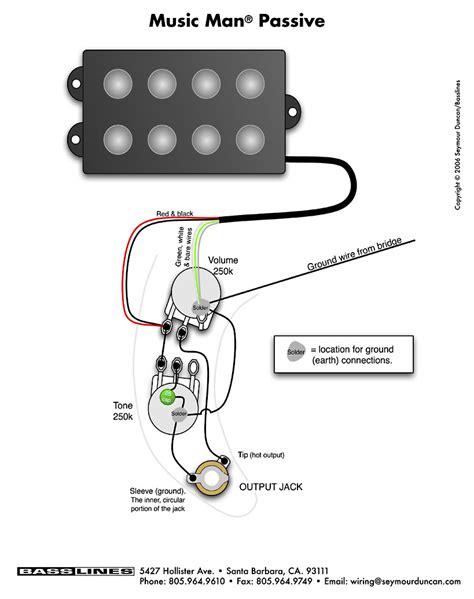 bass wiring diagram musicman bass