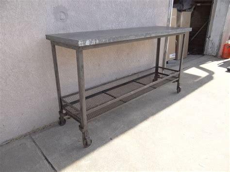 industrial metal console table urban industrial metal zinc top sofa hall foyer console