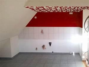 Muster Für Wandgestaltung : k che mit dachschr ge streichen wandgestaltung forum ef ~ Lizthompson.info Haus und Dekorationen