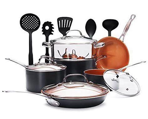 gotham steel  piece nonstick copper complete cookware set  utensils  gothamsteel
