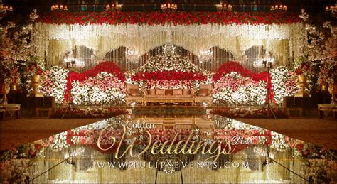 Royal Gold Wedding Reception Decoration ideas in Pakistan