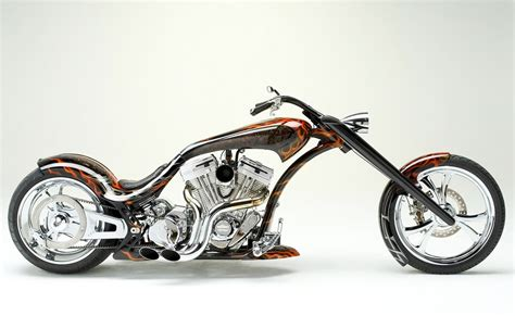 Motorcycle Chopper Flames