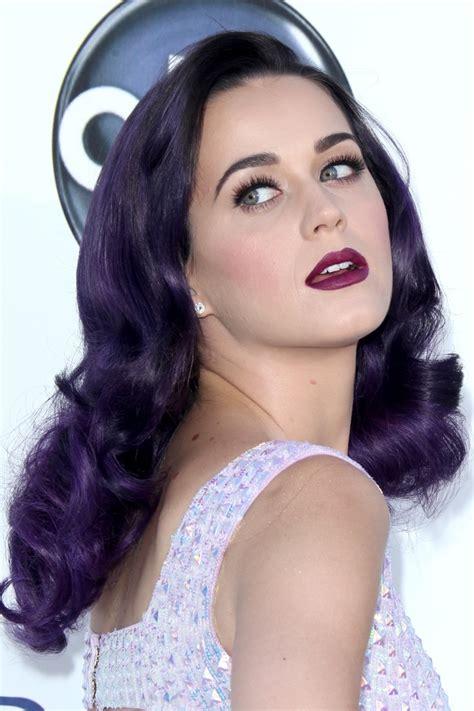 Katy Perrys Purple Hairstyles Hair World Magazine