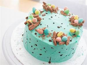 How to Decorate a Speckled Chocolate Easter Egg Cake