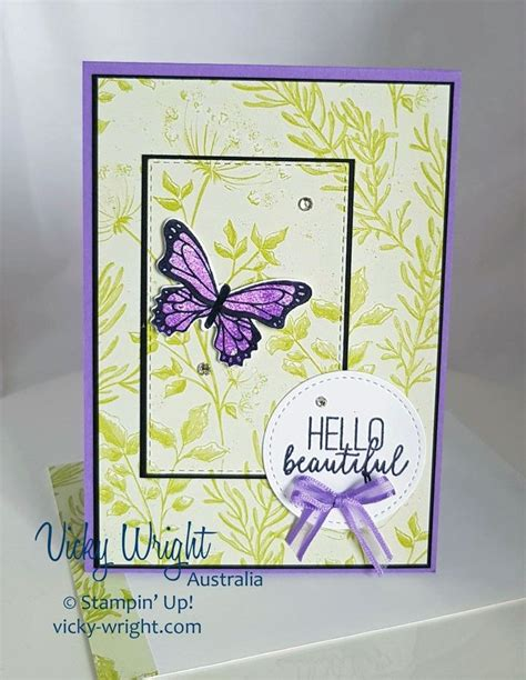 Botanical Butterfly DSP Handmade birthday cards