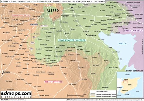 map battle  southern aleppo  territorial control