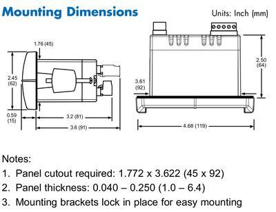 Digit Process Meter Power