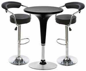 Table Bar But : black hydraulic bar stool and table set leatherette seats ~ Teatrodelosmanantiales.com Idées de Décoration