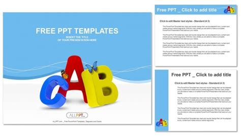 colorful symbols heap  alphabet powerpoint templates