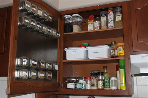 small organized kitchen the spice cabinet re do becoming more domestic 2371