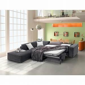 Petit Canapé D Angle Convertible : canap d 39 angle convertible gris meubles et atmosph re ~ Teatrodelosmanantiales.com Idées de Décoration