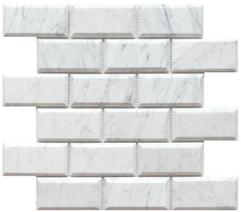 2 X 8 Beveled Subway Tile by 8 50sf Beveled 2x4 Quot Carrara Venato Marble Mosaic Tile