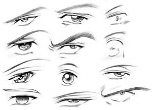 How to Draw Male Anime Eyes Drawing