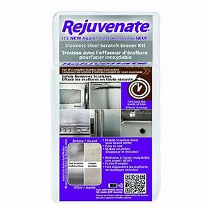 Rejuvenate rejuvenate stainless steel scratch eraser kit for Furniture scratch repair kit home depot