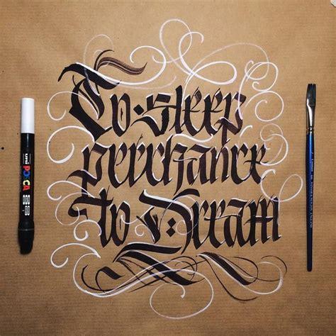 to sleep perchance to dream flatbrush posca brush pen typography script pinterest