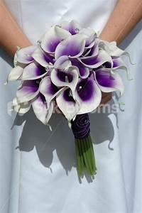Shop Vibrant Bridal Bouquet with Purple Centred White ...