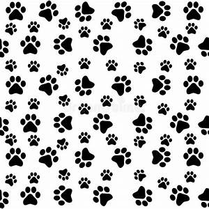 Dog paws seamless pattern stock vector. Illustration of ...