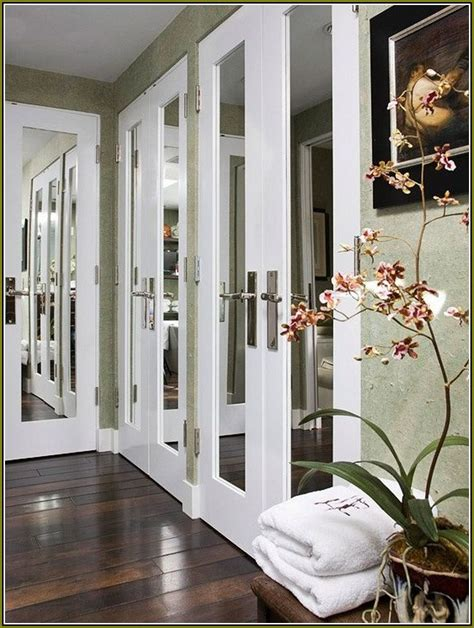 French Closet Doors With Mirrors Home Design Ideas