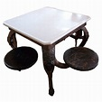 1900's American Cast Iron Ice Cream Parlor Table at 1stdibs