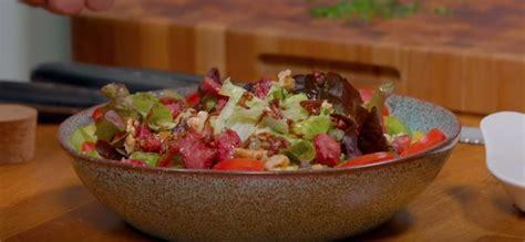 salade gourmande de chevre chaud la recette