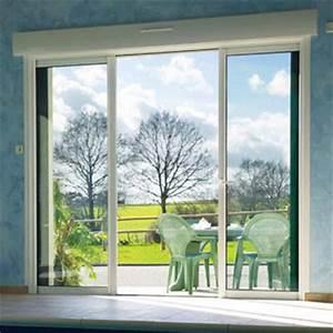 Baie vitree coulissante 3 types d39ouverture for Porte de garage coulissante et porte de service vitrée