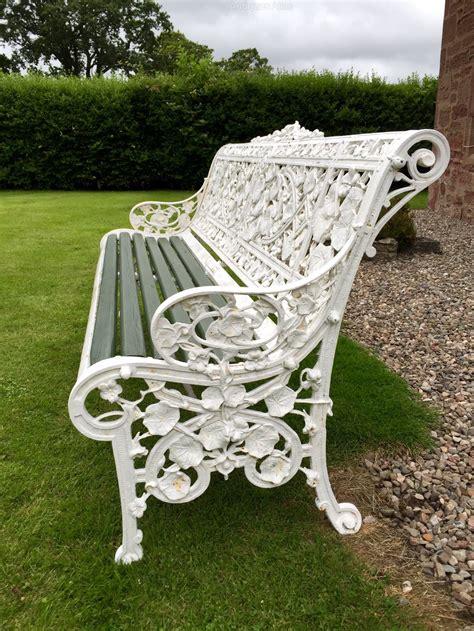 antiques atlas coalbrookdale garden bench