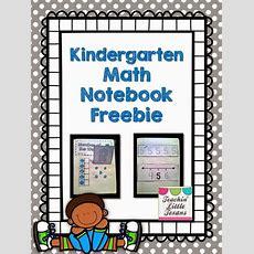 Teachin' Little Texans Kindergarten Math Notebook {freebie!} This Freebie Is Awesome!!!! Back