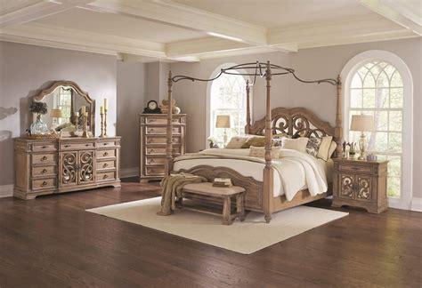 piece coaster ilana canopy bedroom set antique linen