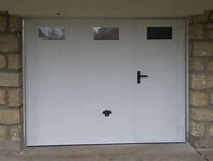lapeyre porte de garage sectionnelle avec portillon With porte de garage sectionnelle avec porte d entrée pvc lapeyre