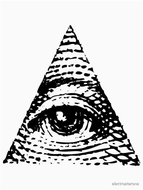 """""""All seeing eye BLACK version"""" T-shirt by electrosterone"""