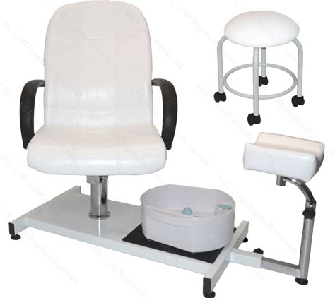 white pedicure station hydraulic chair foot spa