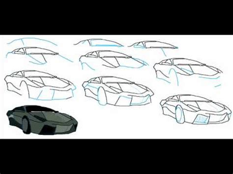 How To Draw A Car Step By Step With Pictures by How To Draw A Lamborghini Reventon Car Easy Simple Step By