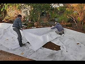 Geotextile Sous Gravier : la pose d 39 un g otextile avant plantation youtube ~ Premium-room.com Idées de Décoration