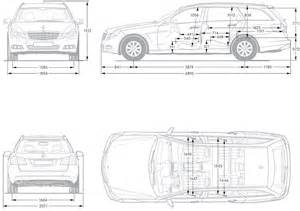 dimensions of e class mercedes estate