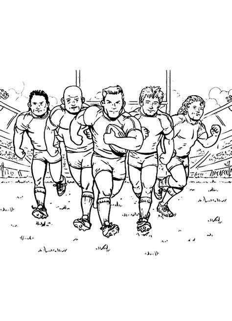 Rugby Kleurplaat by Sport Kleurplaat Rugbyteam