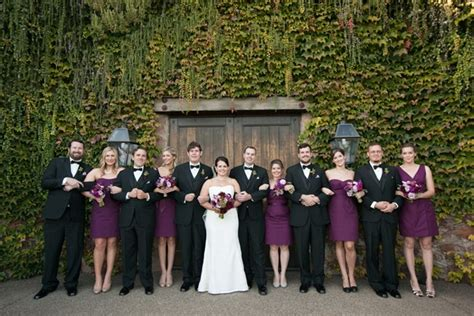 purple and black bridal party elizabeth anne designs
