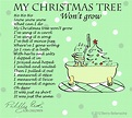 Piddly poems: My Christmas tree won't grow