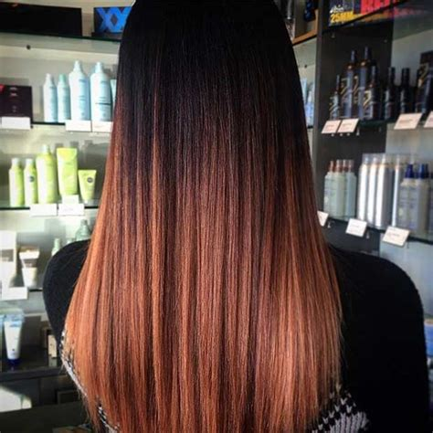 copper balayage hair ideas  fall