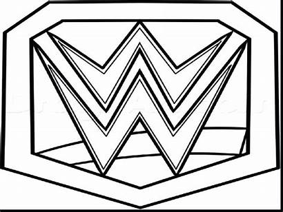 Wwe Coloring Belt Wrestling Championship Pages Printable