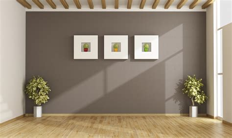 brown wall paint interiors design