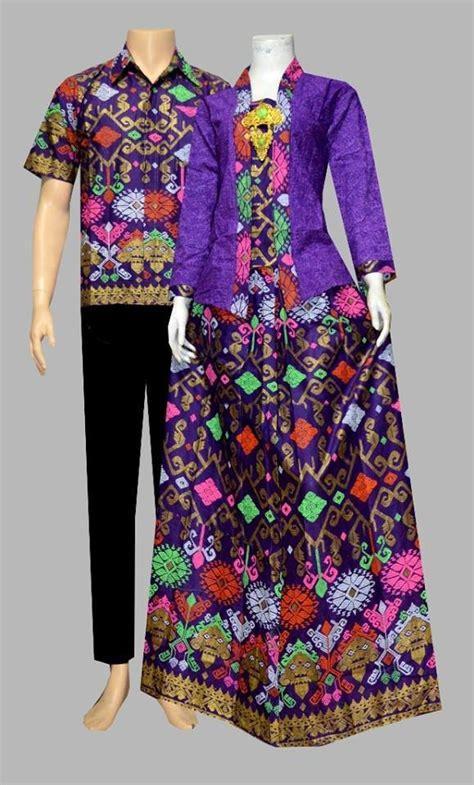 jual beli setelan kebaya batik couple muslim warna