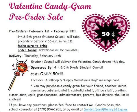 Valentine Gram Templates Candy Flyer