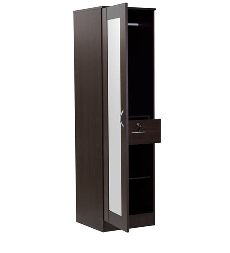 buy namito  door wardrobe  mirror  chocolate